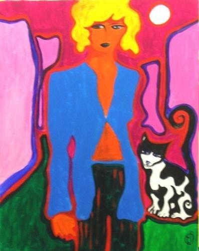 lutxana art pintura acrílica alone 2006 dandee girls 100 x 70 cm